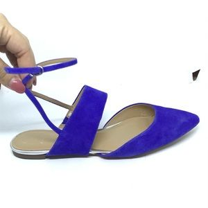 Banana Republic vibrant blue pointy flats sandals